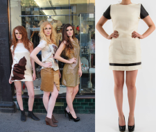 On right: Pashlea shift dress
