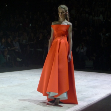 Orange neoprene dress